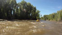 White water rafting on Gunnison river 3 Stock Footage