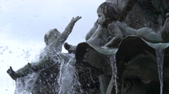 Children statues at the Neptune Fountain, Berlin Stock Footage