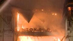 Restaurant structure fire - Kitchen Fire Stock Footage