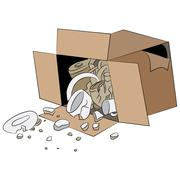 Broken Delivery Shipment Box Stock Illustration