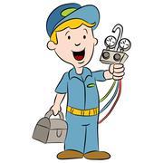 Cartoon Maintenance Handyman Stock Illustration