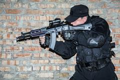 Special forces operator Stock Photos