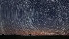 4K Star Trails Time-lapse Stock Footage