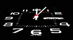 Clock time business clockwork technology countdown Stock Footage