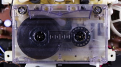 Stock Video Footage of cassette tape hifi stereo radio music sound audio