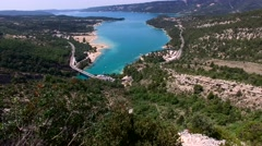Lac de Sainte-Croix  - Gorges du Verdon Stock Footage