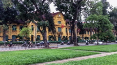 The historic building near famous attraction-Ba Dinh Square in Hanoi, Vietnam Stock Footage