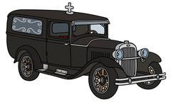 Vintage funeral car Stock Illustration