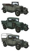 Vintage military cars Piirros
