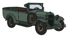 Vintage military car - stock illustration