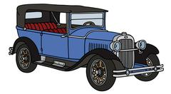 Vintage convertible - stock illustration