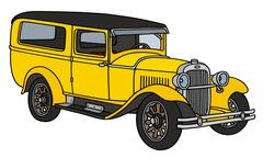 Vintage station wagon Stock Illustration