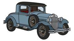 Vintage coupe - stock illustration