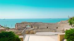 Amphitheater ruins in Tarragona, Spain Stock Footage
