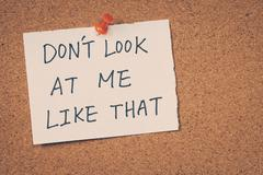 Don't look at me like that - stock photo