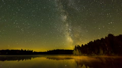 The Milky Way from Algonquin Provincial Park, ON, Canada Stock Footage
