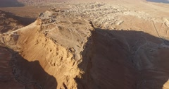 Soaring 4K Aerial View of MASADA, ISRAEL Stock Footage