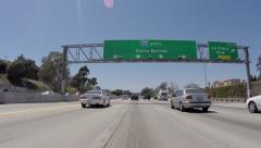 Los Angeles 405 San Diego Freeway North to Santa Monica Sign Stock Footage