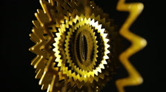 Stock Video Footage of gold spin pattern abstract background wallpaper