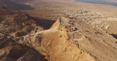 Aerial View Above MASADA, ISRAEL in 4K Stock Footage