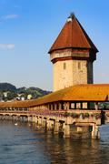 Chapel Bridge, Lucerne, Switzerland Stock Photos