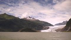 The Lake Shore at Mendenhall Glacier Alaska United States Stock Footage