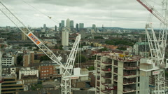 London city  skyline construction boom skyscrapers architecture Stock Footage