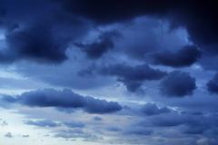 Dark stormy sky Stock Photos