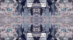 london city aerial helicopter flight urban skyline abstract - stock footage