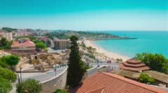 Tarragona 4k, Roman Amphitheater, Costa Daurada, Catalonia Stock Footage