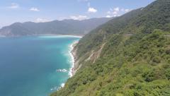 Aerial Footage Stunning Mountain Coastline In Taiwan Stock Footage
