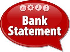 Bank Statement  Business term speech bubble illustration Stock Illustration