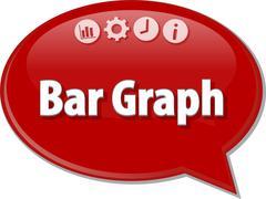 Bar Graph  Business term speech bubble illustration - stock illustration
