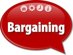 Bargaining   Business term speech bubble illustration - stock illustration