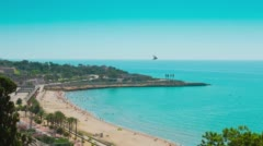 Tarragona beach 4k Stock Footage
