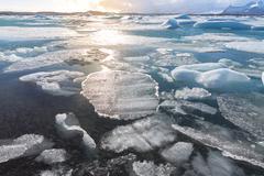 Vatnajokull Glacier Iceland Stock Photos