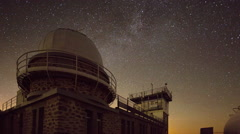 pyrenees timelapse france night mountains stars observatory - stock footage