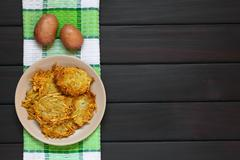 Potato Pancake or Fritter - stock photo