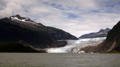 The Lake Shore at Mendenhall Glacier Alaska United States Stock Footage