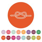 The knot icon. Node and tie, rope symbol. Flat Stock Illustration