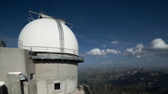 Pyrenees timelapse france mountains stars observatory Stock Footage