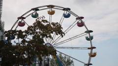 Playland Amusement Park Stock Footage
