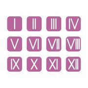 Set Roman numerals 1-12 icon. vector Stock Illustration