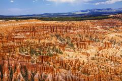 Amphitheater Hoodoos Inspiration Point Bryce Canyon National Park Utah - stock photo