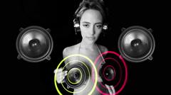 speaker music gogo sexy dancer audio sound disco - stock footage