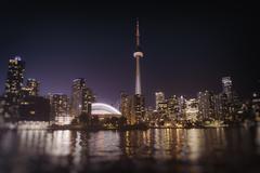 Toronto Skyline at Night - stock photo