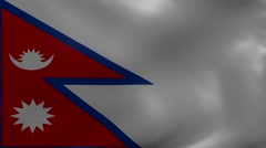 Nepal strong wind flag Stock Footage