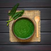 Cream of Spinach Soup - stock photo