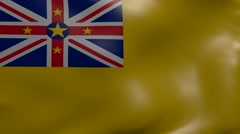 Niue strong wind flag Stock Footage