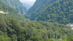 The gorge on the river Mzymta, Sochi, Russia. 1280x720 Stock Footage